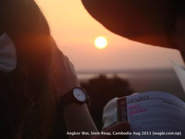 sun set view from near angkor wat