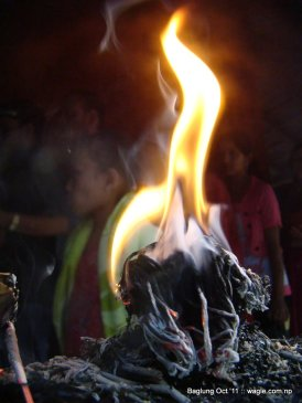 baglung kalika temple dashain festival