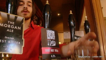Ale being served...