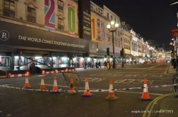 Tonight, the world will not come together on Regent Street because the road is blocked for essential maintenance work.