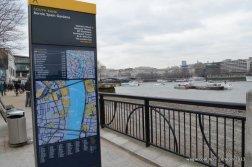 River Thames Bank Walking Map