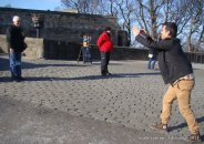 Amit the photographer..takes a photo of a tourst at the Edinburgh Castle at the latter's request.