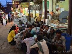 Waiting for food- Old Delhi street