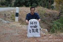 "Embracing the ""Ramri"" (=beautiful; 4 KM). This in Salyan district."