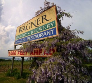 Wagner sign - 1000 feet ahead. Photo by Stu Gallagher Photography