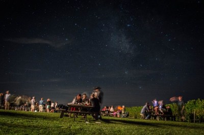 Pub night under the stars. Photo by Stu Gallagher Photography