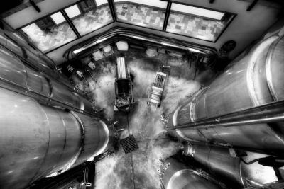 Winery tankroom. Photo by Stu Gallagher Photography