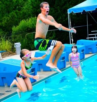 Camp swim time