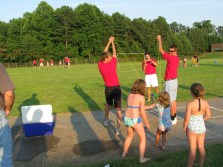 Anya doing the launch at Camp O Family Night