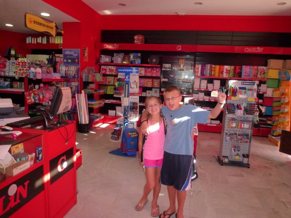 Shopping for School Supplies. Our first year in Spain.