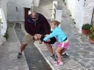 "Lars of course ""accidentally"" falls in Pampaneira Las Alpujarras Granada Spain"