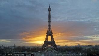 Paris France the Eiffel Tower SunRise in December