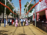 The Feria sidewalks