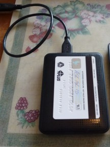 WD My Passport - Size compare (Travel hard drive)
