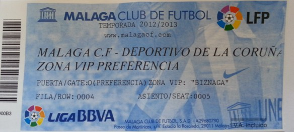 VIP Málaga v Deportivo Tickets