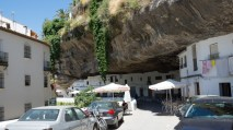 Cafe along the main street Setenil de las Bodegas