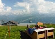 Enjoying the Swiss Alps