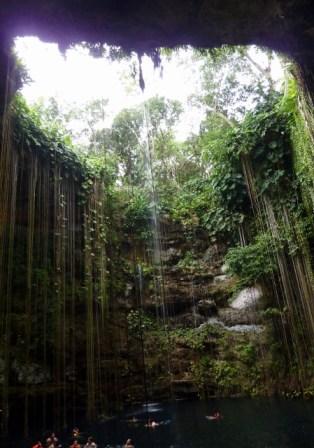 Cenote Ikil Yucatan Mexico