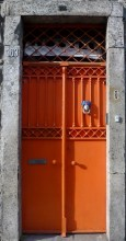 Porto, Portugal Orange Door