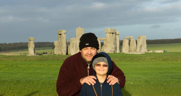 Lars and Alan rockin' Stonehenge