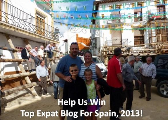 Top Expat Blog Spain 2013 Nominee