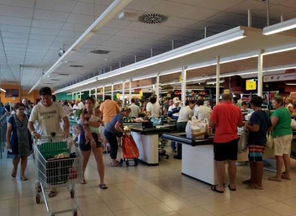 Almunecar Mercadona in August