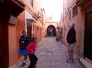 Our journey through the Marrakech Medina begins, just outside of our Riad