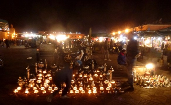 The Night Market in the Marrakech Medina
