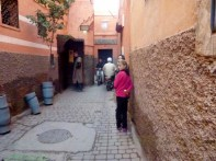 We need to share the paths with bike and scooters in the Marrakech Medina