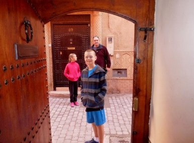 The door to our Riad in Marrakech