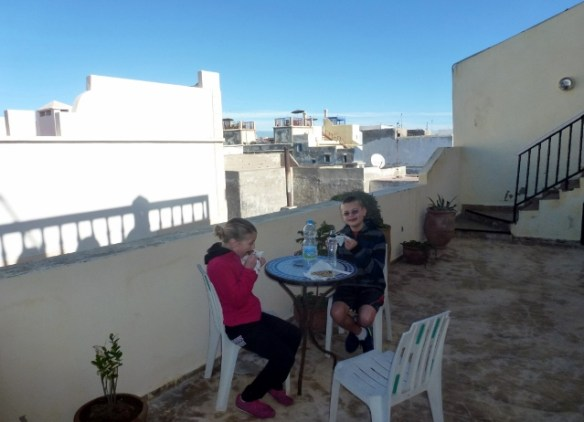 Tasting Morocco - Crepes on Riad Roof Terrace