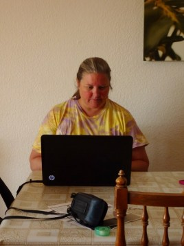 Wagoners Abroad Work Station for Heidi - Not Living in the Moment!
