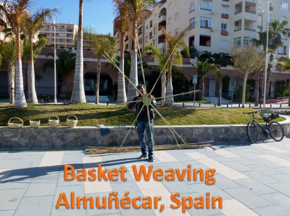An expat in Spain, stopping to enjoy the basket weaver Almunecar Spain