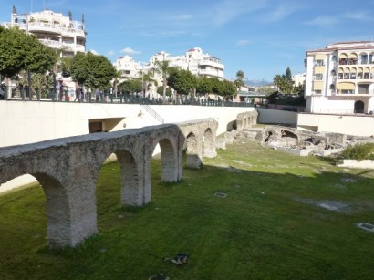 Almuñécar Roman Ruins Aqueduct and Baths Town Center
