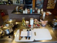 Chefparade Cooking Class Budapest Hungary Work Station