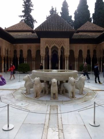 Granada Spain - Alhambra courtyard