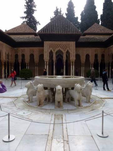 Granada Spain - Alhambra courtyard