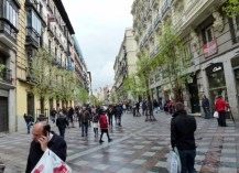 Madrid Spain - Pedestrian Zone