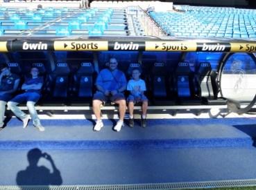 Madrid Spain - Santiago Bernabeu Futbol Stadium Press Box