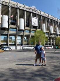 Madrid Spain - Santiago Bernabeu Futbol Stadium