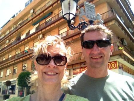 Ed and Jeanne Blog Readers in Almunecar - Travel Blog Fans