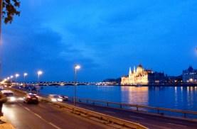 Night Walk Danube River - Budapest Hungary The Margaret Bridge from Buda
