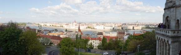 View of Budapest and Danube River from Castle District