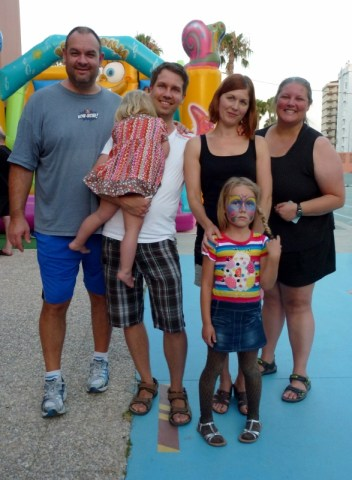 Lehtinen Family in Almunecar Spain June 2014