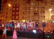 Just Dance Projected on the school walls - Last Day of School Almunecar Spain June 2014
