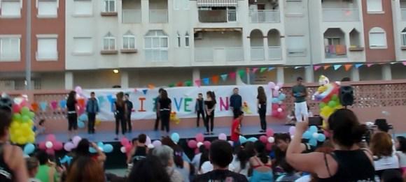 Luke in the talent show Last Day of School Almunecar Spain June 2014
