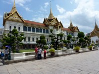 Grand Palace Bangkok Thailand with Dr. Suess trees