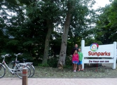 Sunparks De Haan Belgium - Biking outside the park