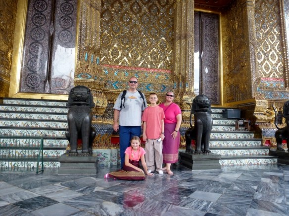 Wagoners Abroad at The Emerald Buddha Temple Bangkok Thailand
