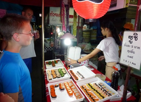 Chiang Mai Saturday Night Market - Sushi